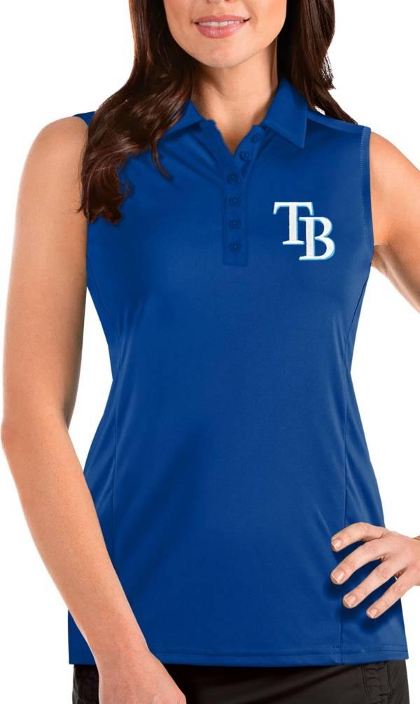 Antigua Women's Tampa Bay Rays Blue Tribute Sleeveless Polo product image