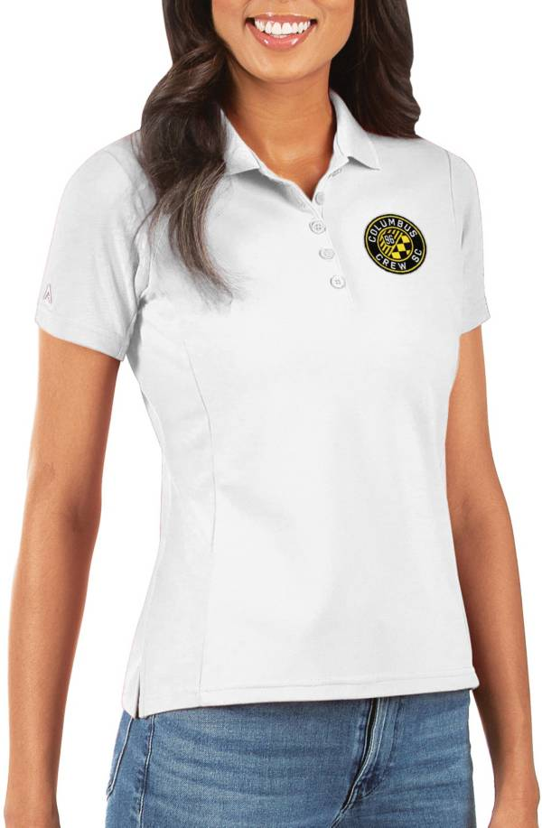 Antigua Women's Columbus Crew Legacy Pique White Polo product image
