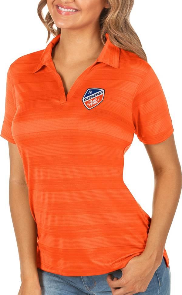 Antigua Women's FC Cincinnati Orange Compass Polo product image