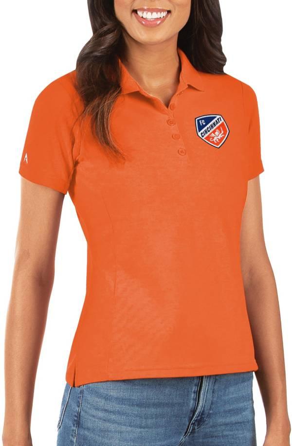 Antigua Women's FC Cincinnati Orange Legacy Pique Polo product image