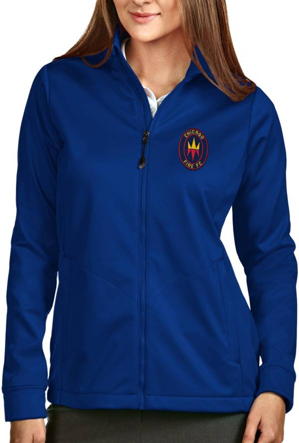 Antigua Women's Chicago Fire Navy Full-Zip Golf Jacket product image