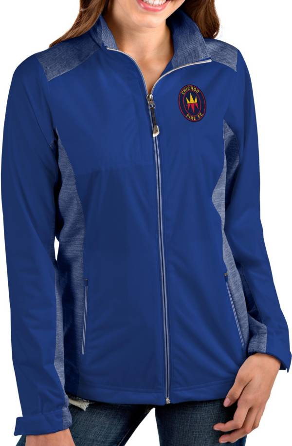 Antigua Women's Chicago Fire Navy Revolve Full-Zip Jacket product image