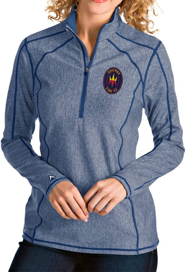 Antigua Women's Chicago Fire Navy Tempo Quarter-Zip Pullover product image