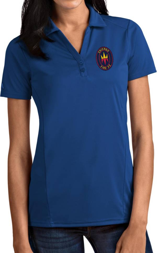 Antigua Women's Chicago Fire Navy Tribute Polo product image