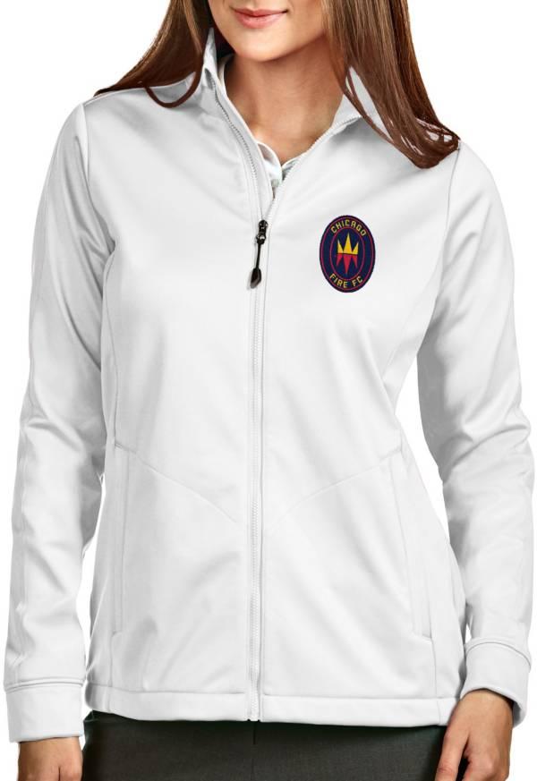 Antigua Women's Chicago Fire Full-Zip Golf White Jacket product image