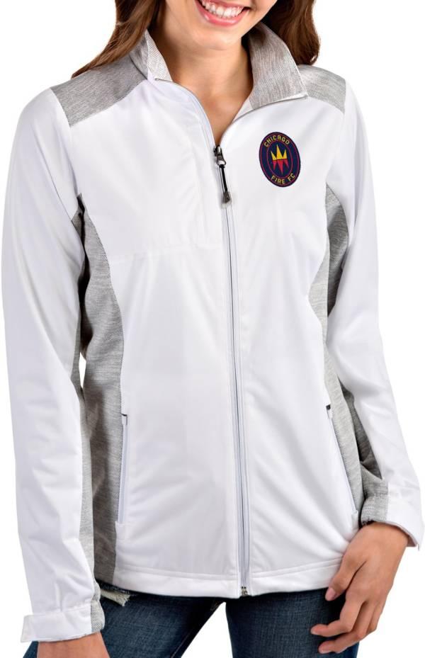 Antigua Women's Chicago Fire Revolve Full-Zip White Jacket product image