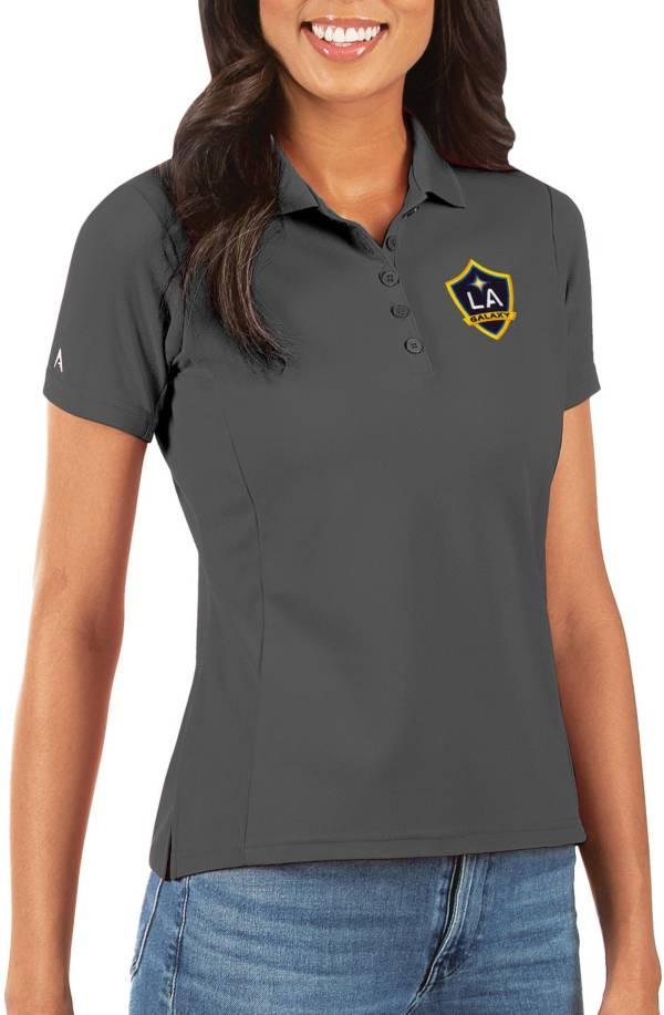 Antigua Women's Los Angeles Galaxy Grey Legacy Pique Polo product image