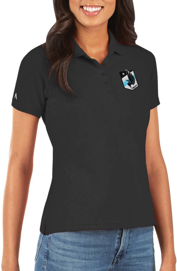 Antigua Women's Minnesota United FC Legacy Pique Black Polo product image