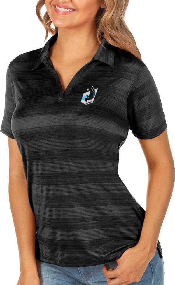 Antigua Women's Minnesota United FC Black Compass Polo product image