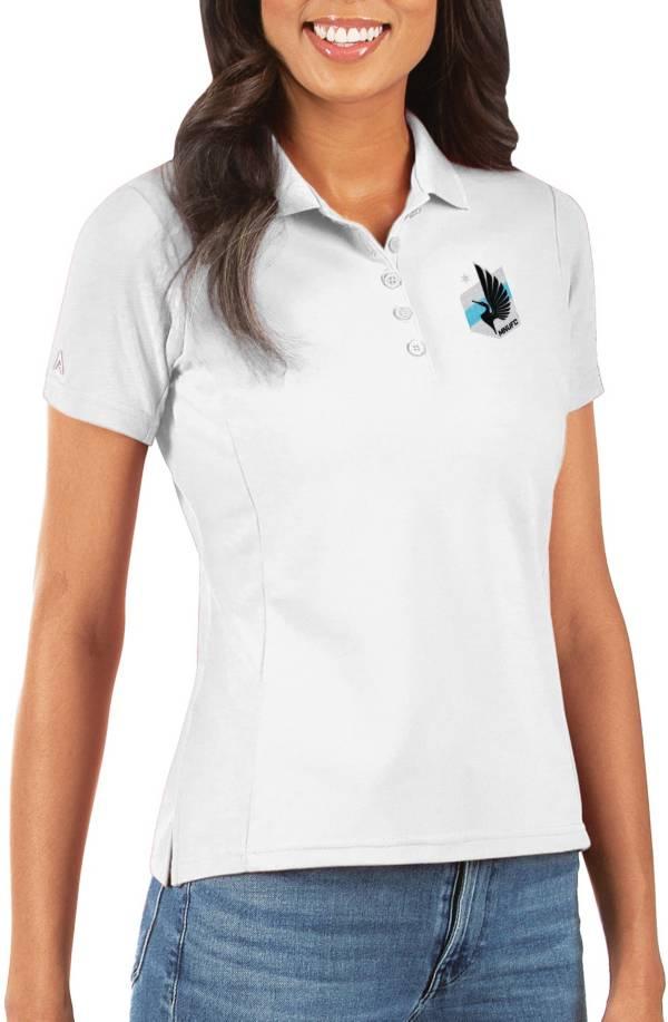 Antigua Women's Minnesota United FC Legacy Pique White Polo product image