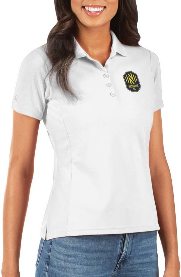 Antigua Women's Nashville Soccer Club Legacy Pique White Polo product image