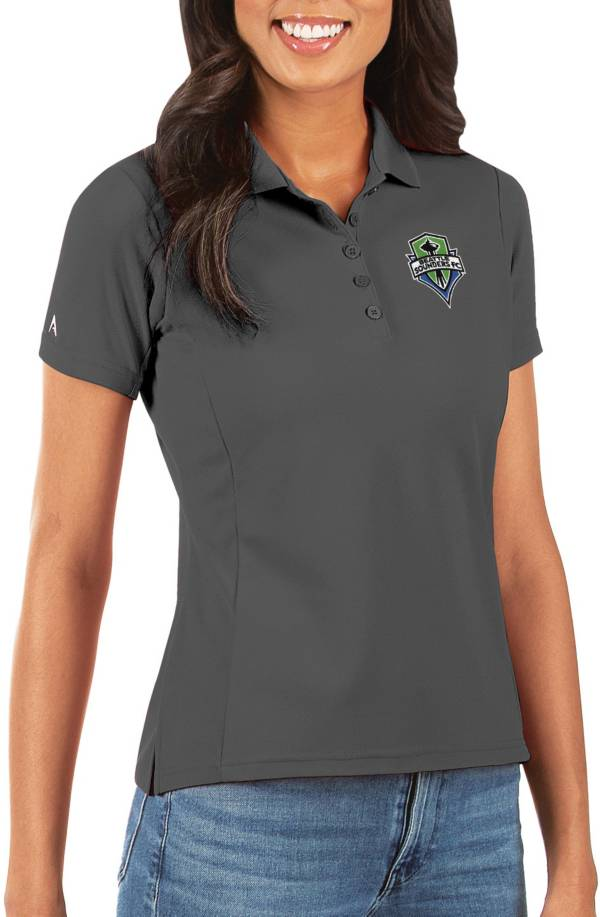 Antigua Women's Seattle Sounders Grey Legacy Pique Polo product image
