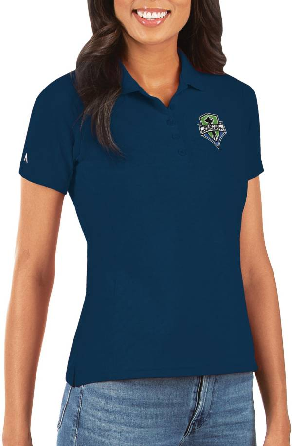 Antigua Women's Seattle Sounders Navy Legacy Pique Polo product image