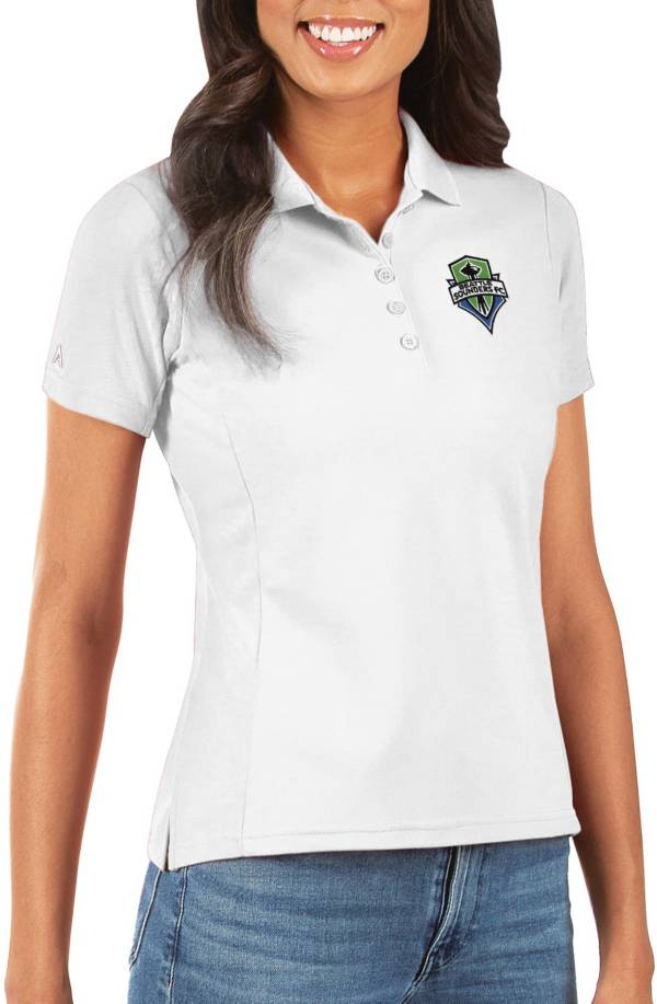 Antigua Women's Seattle Sounders Legacy Pique White Polo product image