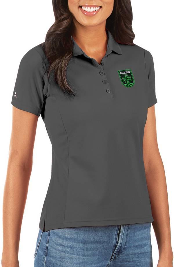 Antigua Women's Austin FC Grey Legacy Pique Polo product image