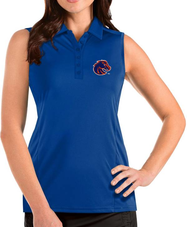 Antigua Women's Boise State Broncos Blue Tribute Sleeveless Tank Top product image