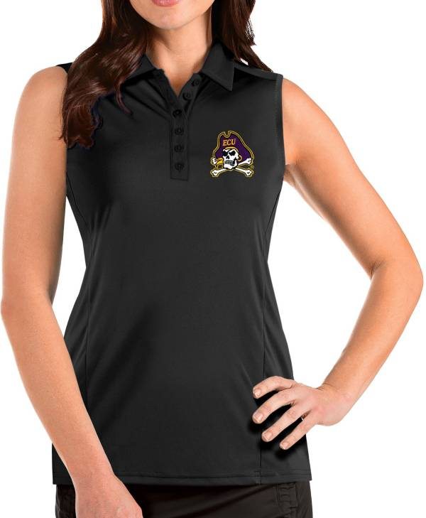 Antigua Women's East Carolina Pirates Tribute Sleeveless Tank Black Top product image