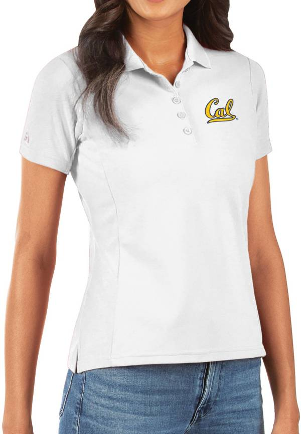 Antigua Women's Cal Golden Bears Legacy Pique White Polo product image
