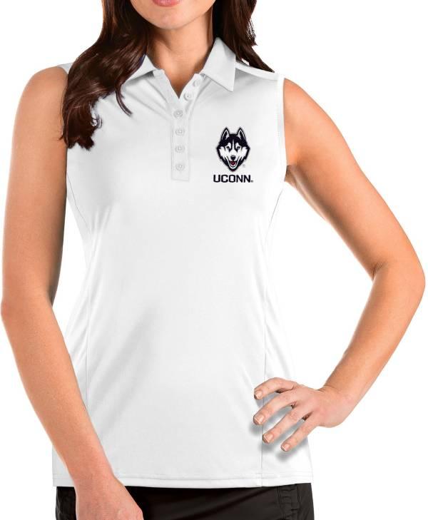 Antigua Women's UConn Huskies Tribute Sleeveless Tank White Top product image