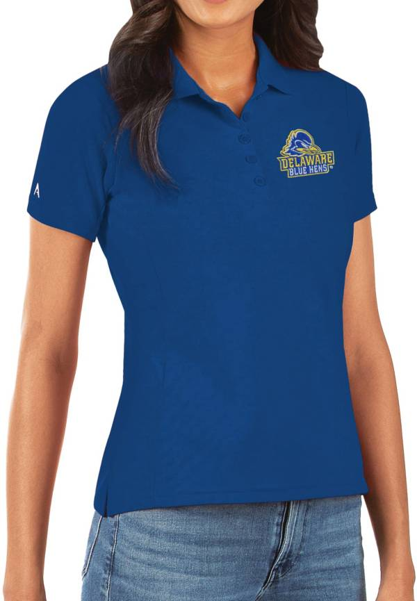 Antigua Women's Delaware Fightin' Blue Hens Blue Legacy Pique Polo product image