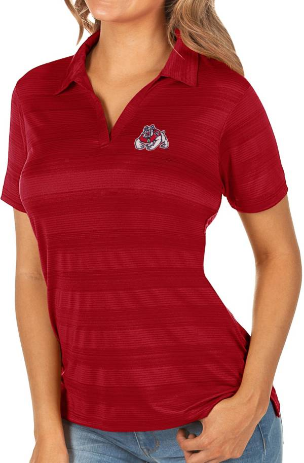 Antigua Women's Fresno State Bulldogs Cardinal Compass Polo product image