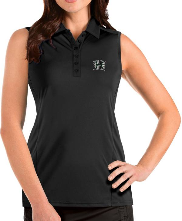 Antigua Women's Hawai'i Warriors Tribute Sleeveless Tank Black Top product image