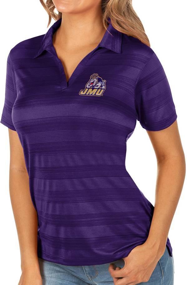 Antigua Women's James Madison Dukes Purple Compass Polo product image