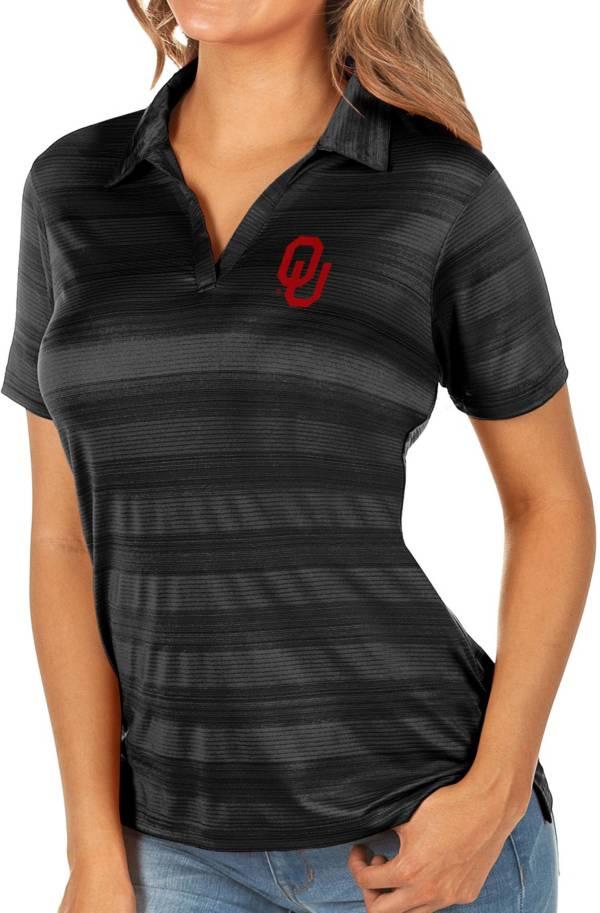 Antigua Women's Oklahoma Sooners Black Compass Polo product image
