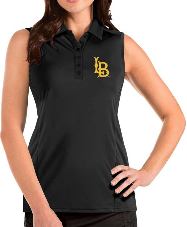 Antigua Women's Long Beach State 49ers Tribute Sleeveless Tank Black Top product image
