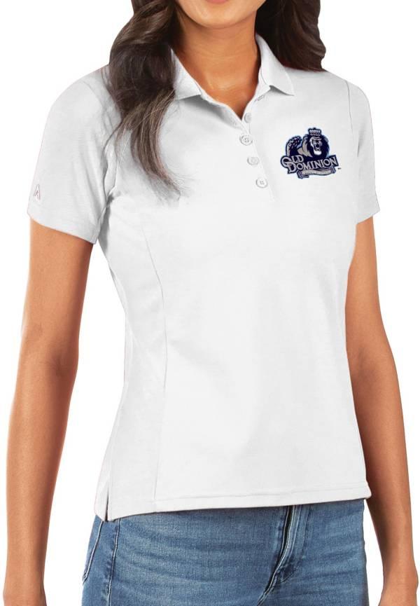 Antigua Women's Old Dominion Monarchs Legacy Pique White Polo product image