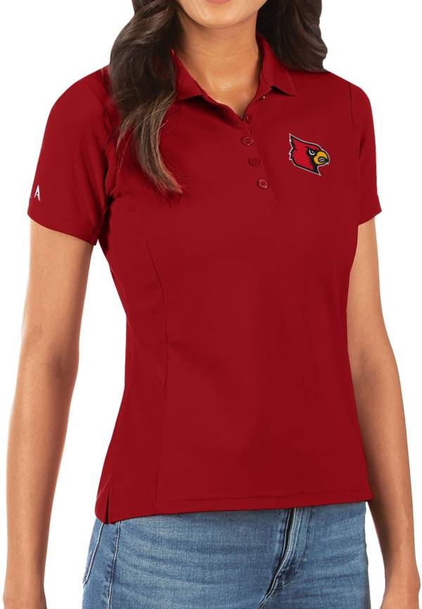 Antigua Women's Louisville Cardinals Cardinal Red Legacy Pique Polo product image