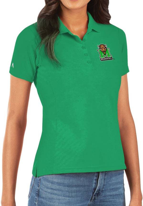 Antigua Women's Marshall Thundering Herd Green Legacy Pique Polo product image