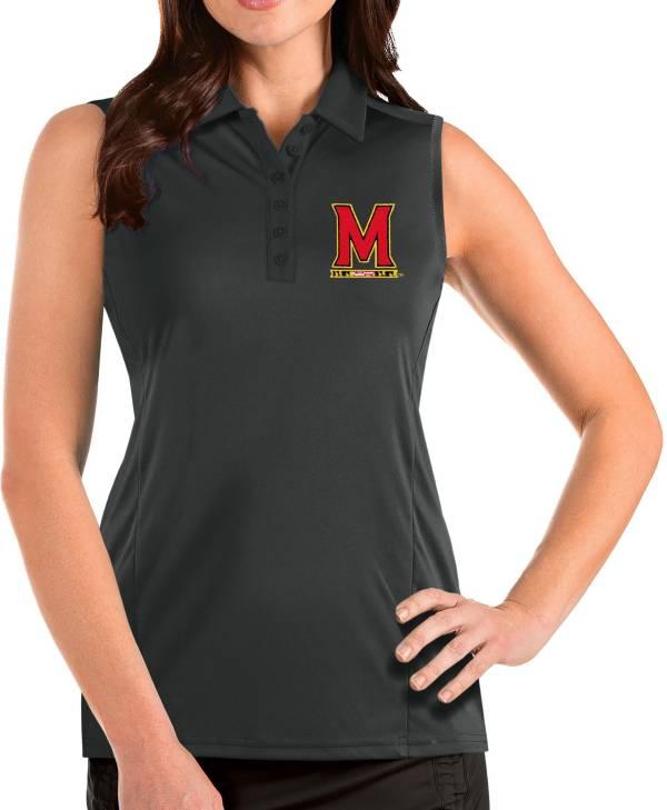 Antigua Women's Maryland Terrapins Grey Tribute Sleeveless Tank Top product image
