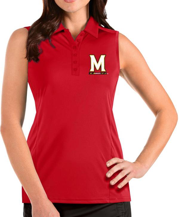 Antigua Women's Maryland Terrapins Red Tribute Sleeveless Tank Top product image