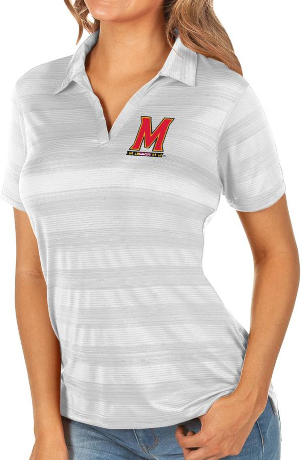 Antigua Women's Maryland Terrapins White Compass Polo product image