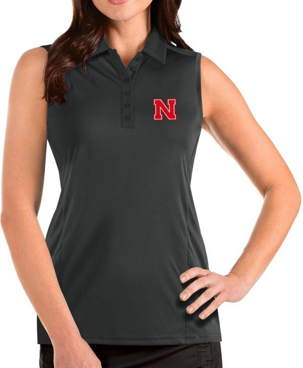 Antigua Women's Nebraska Cornhuskers Grey Tribute Sleeveless Tank Top product image