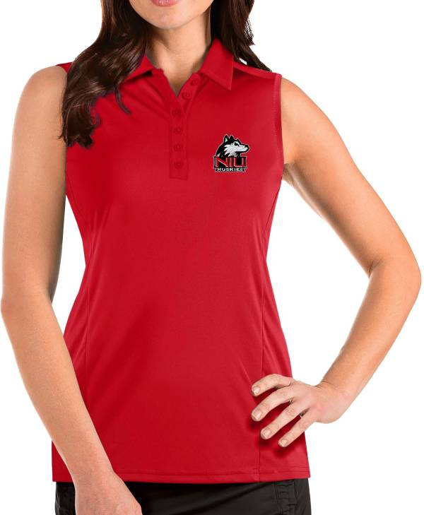 Antigua Women's Northern Illinois Huskies Cardinal Tribute Sleeveless Tank Top product image