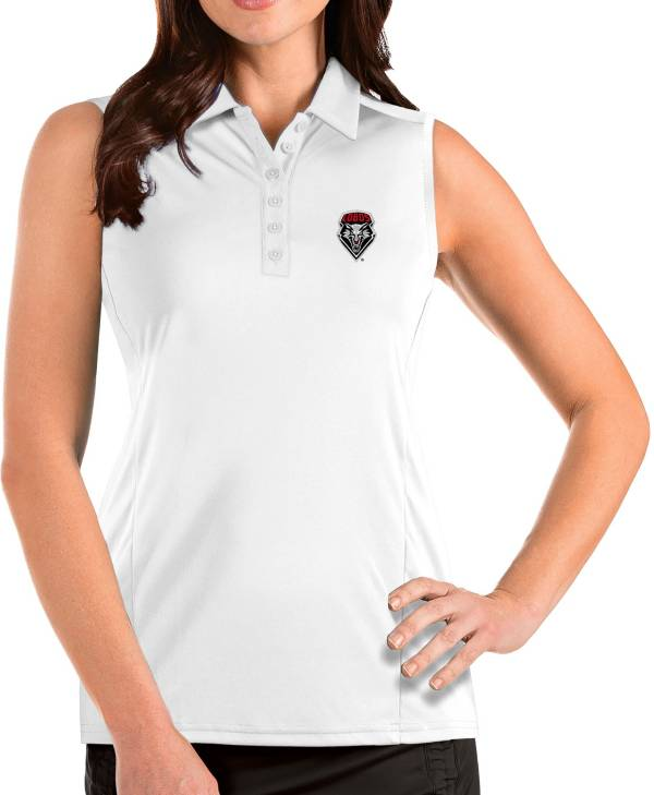 Antigua Women's New Mexico Lobos Tribute Sleeveless Tank White Top product image