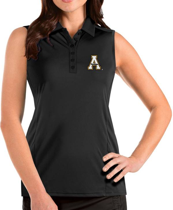 Antigua Women's Appalachian State Mountaineers Tribute Sleeveless Tank Black Top product image