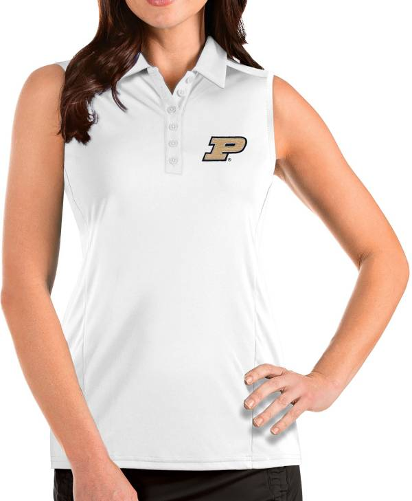 Antigua Women's Purdue Boilermakers Tribute Sleeveless Tank White Top product image