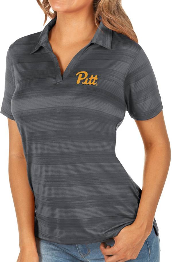 Antigua Women's Pitt Panthers Grey Compass Polo product image