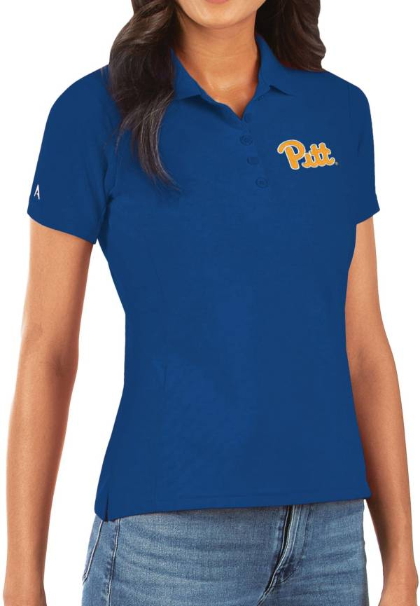 Antigua Women's Pitt Panthers Blue Legacy Pique Polo product image