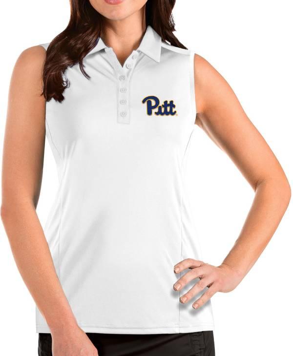 Antigua Women's Pitt Panthers Tribute Sleeveless Tank White Top product image