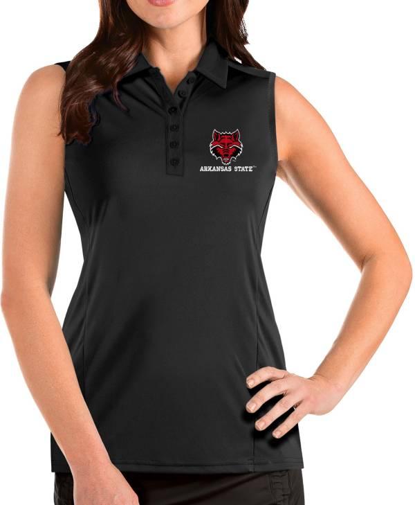 Antigua Women's Arkansas State Red Wolves Tribute Sleeveless Tank Black Top product image