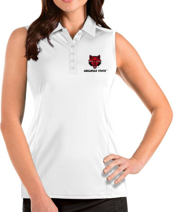 Antigua Women's Arkansas State Red Wolves Tribute Sleeveless Tank White Top product image