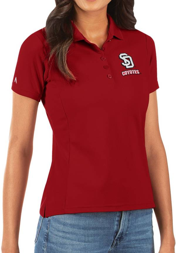 Antigua Women's South Dakota Coyotes Red Legacy Pique Polo product image