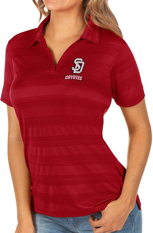 Antigua Women's South Dakota Coyotes Red Compass Polo product image