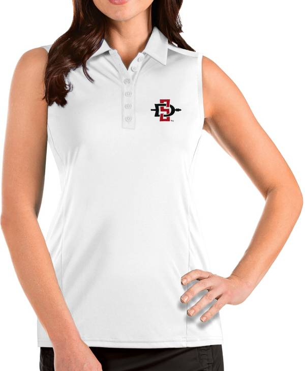 Antigua Women's San Diego State Aztecs Tribute Sleeveless Tank White Top product image