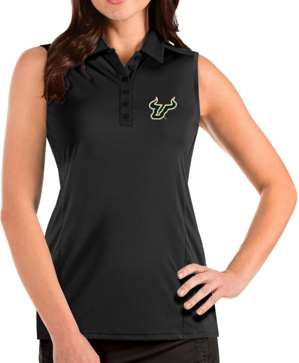 Antigua Women's South Florida Bulls Tribute Sleeveless Tank Black Top product image
