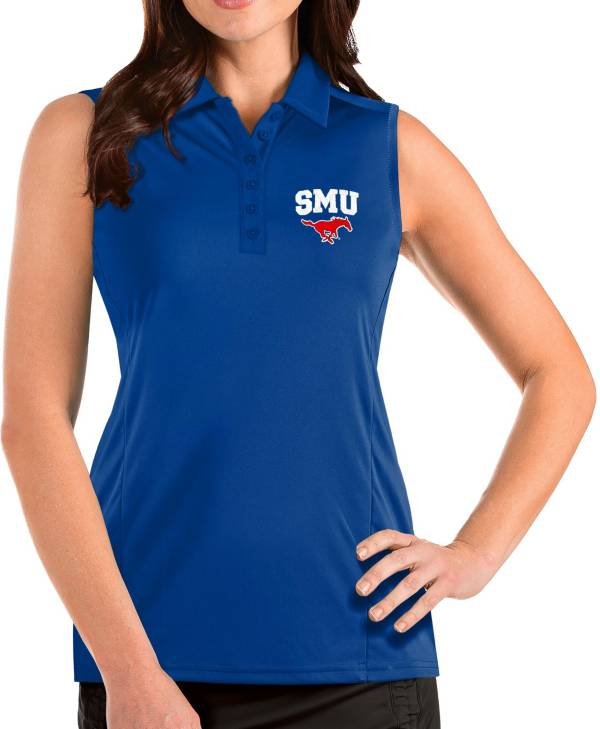 Antigua Women's Southern Methodist Mustangs Blue Tribute Sleeveless Tank Top product image